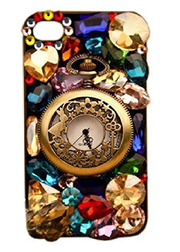 懐中時計 キラキラ宝石飾り 目立つデザイン 面白い かっこいい 贅沢 ファッション iphone6/6s/6Plus/6sPlus対応ケース/カバー  携帯電話アクセサリ 携帯ケース アイフォンケース 保護ケース 人気  おしゃれ iphone6Plus/6sPlus