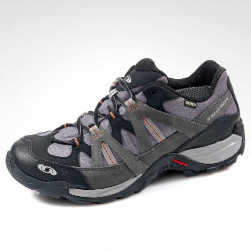 Salomon Outdoorschuh, Groesse 46, anthrazit/schwarz