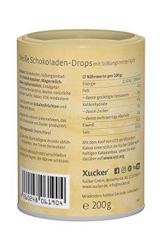 Buchdeckel von 3 x 200 g Xucker Schokoladen-Drops-Set