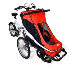 cycling with small children, bike stroller,