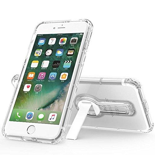 改善版『iPhone 7 Plus』ケース Apple iPhone7 Plus 用 カバー TPU  米軍MIL規格取得 落下 衝撃 吸収  一体型 背面キックスタンド付 クリアタイプ TPU 透明 カバー スタンド機能
