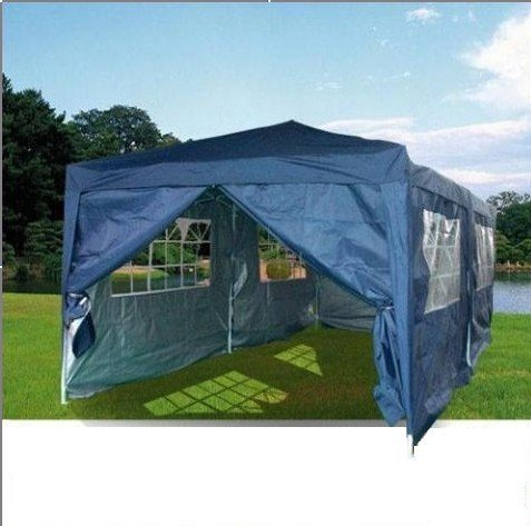 Quictent 20x10 EZ Pop Up Party Tent Canopy Gazebo 6 Walls N Blue