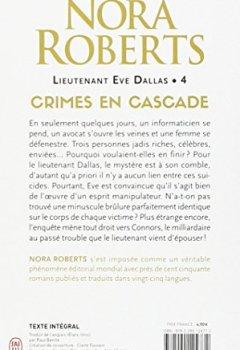 Livres Couvertures de Lieutenant Eve Dallas, Tome 4 : Crimes en cascade