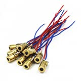 WYHP Mini Laser Dot Diode Module Head WL Red 650nm 6mm 5V 5mW Pack of 10pcs