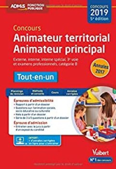 Livres Couvertures de Concours Animateur Territorial Et Animateur Principal