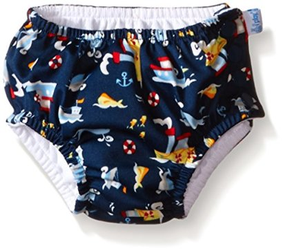 i-play-Baby-Boys-Snap-Reusable-Absorbent-Swim-Diaper-Navy-Tugboat-12-Months