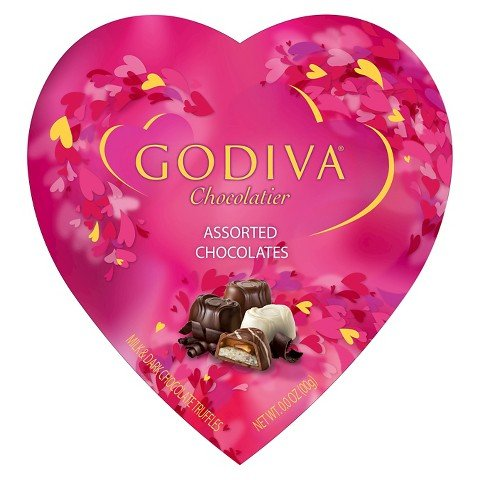 Godiva Chocolatier Valentines Day Assorted Chocolates in Heart Gift Box, 15 Pieces, Limited Edition
