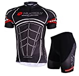 Sponeed Men's Bicycle Jersey Polyester and Lycra Armour Size XL US Deep Brown
