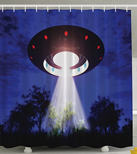 Ambesonne Space Home Decor Collection Jupiter Neighbors Outer Space UFO Aliens Spaceship Extra