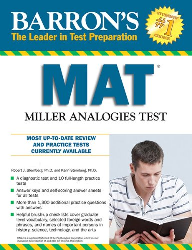 Barron's MAT, 11th Edition: Miller Analogies Test