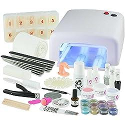 UV-Gel XXXL Set, 4 Röhren Gerät, Nails, Nagelstudio WEISS, nagelset, nagelstudioset, Starterset