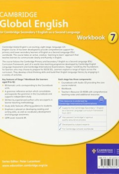 Livres Couvertures de Cambridge Global English Stage 7 Workbook-