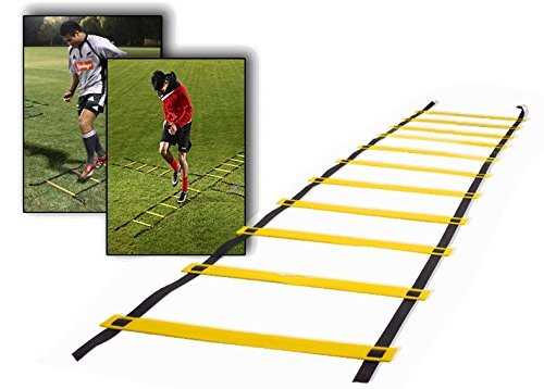 Ohuhu 21 Rung Agility Ladder with Black Carry Case
