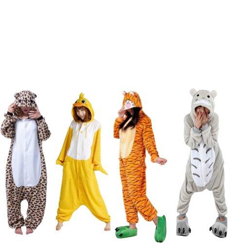 Tieroutfit Halloween Giraffe Kostüm Kigurumi Schlafanzug Erwachsene Japanische Tier Pyjama Onesie tierkostüme gelb
