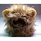 Pet Costume Lion Mane Wig for Dog Cat Halloween Dress up with Ears