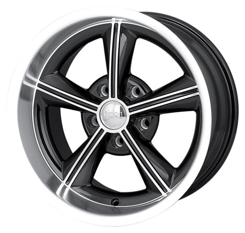 Ion Alloy (Style 625) Black with Machined Lip and Face – 16 x 8 Inch Wheel