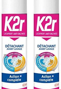 Livres Couvertures de K2r Détachant Avant-lavage Aérosol 400 ml - Lot de 2