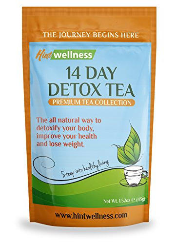 14 Day Detox Tea - Weight Loss Tea for Body Cleanse, Reduce Bloating and Improve Digestion - Loose Leaf Tea Blend By Hint Wellness - 43g