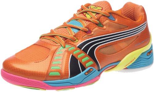 Puma Accelerate VI Tricks 102401, Herren, Sportschuhe - Indoor, Orange (team orange-fluo yellow-f 01), EU 46 (UK 11) (US 12)