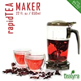 rapidTEA Loose Tea Maker - Tea Infuser Teapot - #1 Best Tea Maker Makes a Perfect Cup of Tea - Bottom Dispensing Teapot - Dripping Free Guarantee - 22 ounce / 650ml