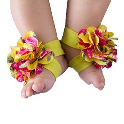 Dealzip-Inc-1-Pair-Baby-Barefoot-Sandals-Shoes-Flower-Baby-Socks-RedYellowBlack
