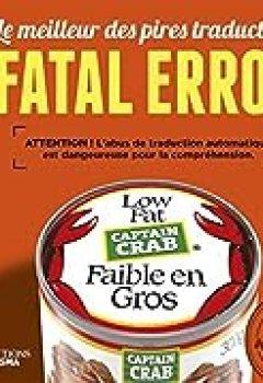 Livres Couvertures de Fatal Error