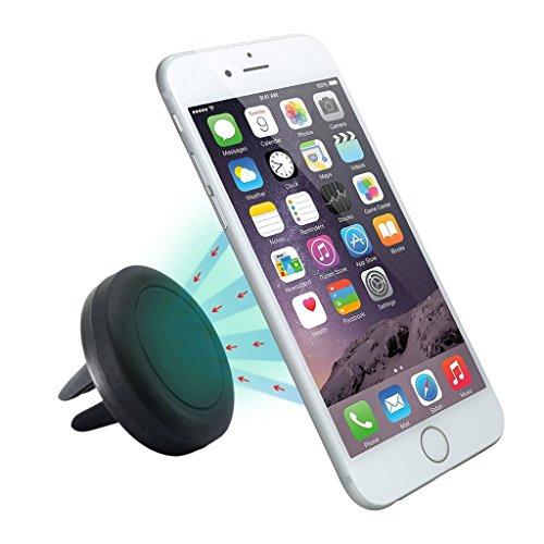 versiontech マグネット車載ホルダー エアベント磁気カーマウントホルダー 車載スタンド カーマウント 車載用マウント 吹き出し口 取付タイプ iphone6S iphone6S Plus/Android スマホなどに対応 ブラック)