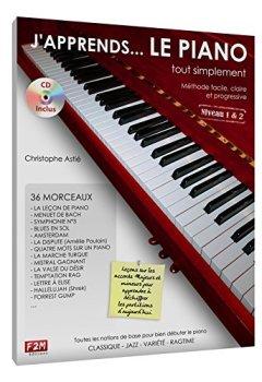 Livres Couvertures de J'apprends... LE PIANO tout simplement Niveau 1&2 C. Astie + CD