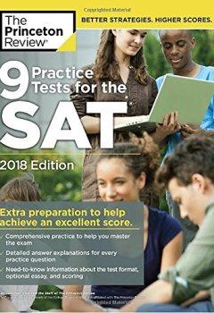 Livres Couvertures de 9 Practice Tests for the SAT, 2018 Edition: Extra Preparation to Help Achieve an Excellent Score