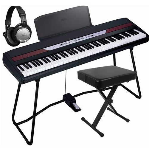Korg SP-250 Digital Piano ESSENTIALS BUNDLE w/ Bench & Headphones