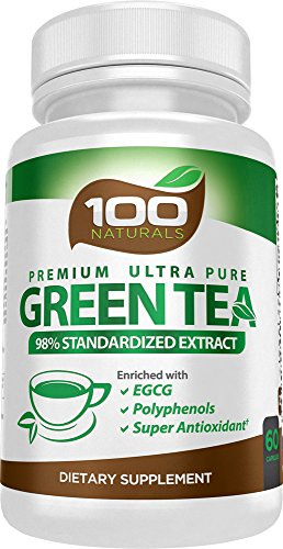 Premium Green Tea Extract Supplement for Weight Loss, Natural Fat Burner, Healthy Heart Support, Super Antioxidant, Natural Caffeine Source for Improved Energy, Enriched with EGCG, Made in the USA