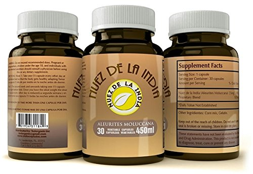 Nuez De La India Pills - Weight Loss and Colon Cleanse - 100% Extract for Men and Women - Supplement Super Powerful in the Market By Todorganic - Get a free shipping if you order 2 pcs!