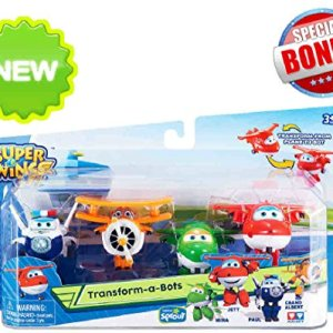 super wings of sprout tv transform a bots 4 pack set - Sprout Super Wings Coloring Pages