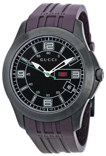 GUCCI Men's YA126203 Timeless Black Dial Watch