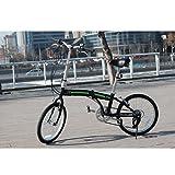 "unYOUsual U arc 20"" Folding City Bike Bicycle 6 Speed Shimano Gear WANDA Tire Reflectors Black"