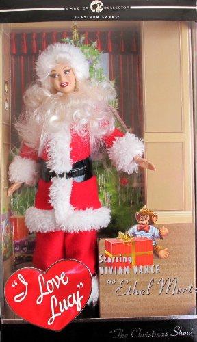 Barbie I Love Lucy ETHEL MERTZ SANTA DOLL Christmas Show PLATINUM Label (2007)