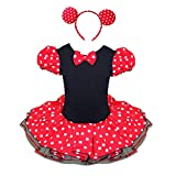YiZYiF Baby Girls Minnie Mouse Christmas Party Halloween Costume Dress Headband 2T