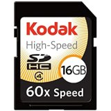 Kodak High-Speed 16 GB 60x Class 4 SDHC Flash Memory Card KSD16GHSBNA060
