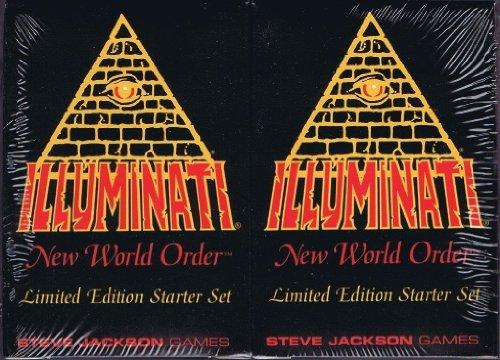 1994 Illuminati New World Order INWO LIMITED EDITION Starter Set イルミナティカード スターターセット(55枚入り×2個 合計110枚) By Steve Jackson