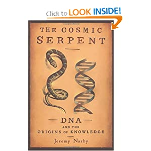 "Facsimile of Jeremy Narby's book ""The Cosmic Serpent""."
