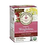 Traditional Medicinals Organic Weightless Cranberry Herbal Tea - Caffeine Free - 16 Bags