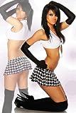 LH-Dessous 11900 Gr. S-M. Sexy Gogo-Set im Schulmädchen-Look, bestehend aus Faltenminirock und Top. Das Top wird vorne elegant gebunden. (UVP 39.90)