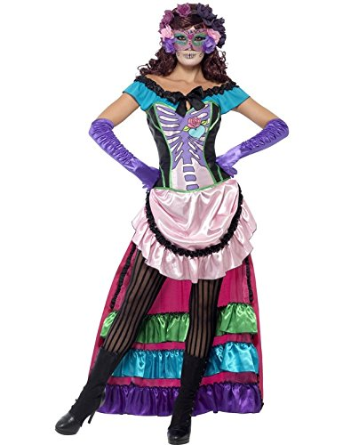Women's Day Of The Dead Sugar Skull Costume