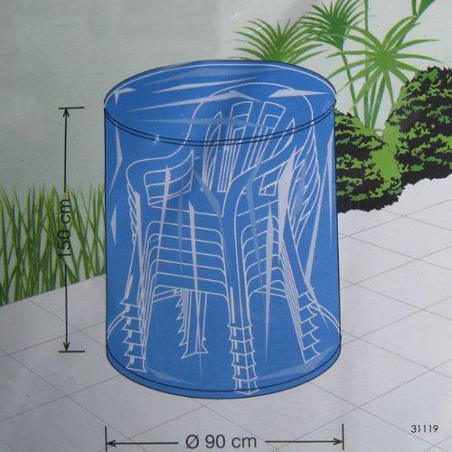 Feste Schutzhülle Stapelstühle Abdeckung Flex-Cover BLAU Schutzhülle Gartenstuhl