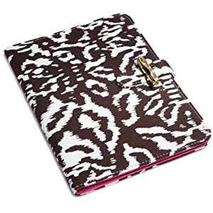 "Diane von Furstenberg Kasi Canvas Clutch for Kindle (Fits 6"" Display, 2nd Generation Kindle) Ikat Choco Print"