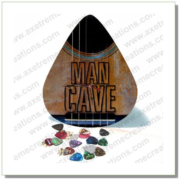 Giant Guitar Pick Wall Art Clock - Man Cave
