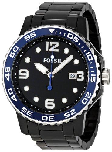 Fossil Herren-Armbanduhr Keramik Analog Quarz CE5010