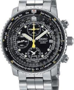 Seiko SNA411P1 - Reloj para hombre, color blanco / gris