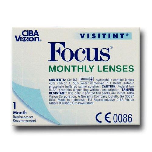 Ciba Vision Focus Monthly Visitint Monatslinsen weich, 6 Stück / BC 8.9 mm / DIA 14.0 / -2,75 Dioptrien