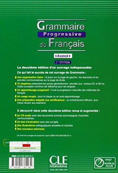 Livres Couvertures de Grammaire progressive du français - Niveau avancé - Livre + CD - 2ème édition